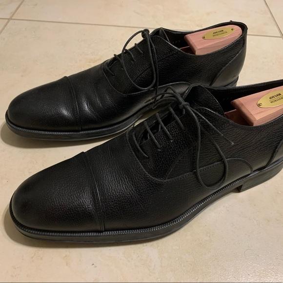 Salvatore Ferragamo Oxford Dress Shoes Black 9.5 D